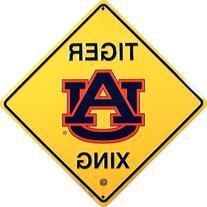Auburn Tigers Crossing Sign Metal Embossed 12 x 12