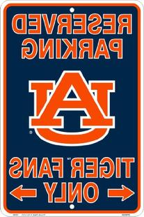 Auburn Tigers Fans Parking Only Metal Sign 8 x 12 embossed