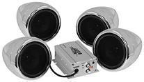 BOSS AUDIO MC470B Chrome 1000 watt Motorcycle/ATV Sound