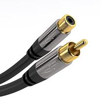 KabelDirekt Audio RCA Cable Extension  Male to Female RCAs