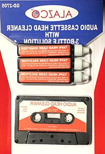 Audio Tape Cassette Head Cleaner w/ 3 Cleaning Fluids Care