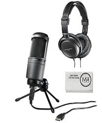 Audio Technica AT2020USB Cardioid Condenser USB Mic + ATH-
