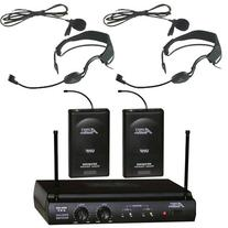 Audio2000s 6032uf UHF Dual Channel Wireless Microphone with