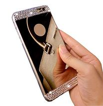 Auroralove Slim Silicone Case for iPhone 6s - Gold Diamond
