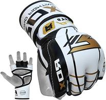 RDX Maya Hide Leather Grappling MMA Gloves Cage UFC Fighting