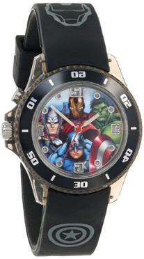 Marvel The Avengers Kids' AVG3508 Watch with Black Rubber