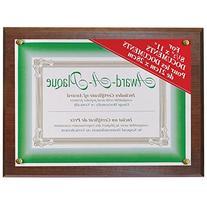 NuDell Award Plaque 13 x 10.5 Inches Mahogany