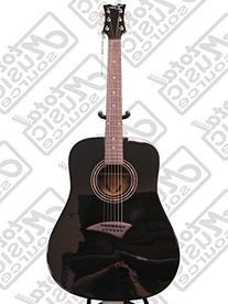 Dean AXSCBK AXS Dreadnought Acoustic Guitar, Classic Black