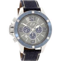 Armani Exchange Men's AX1517 Blue Leather Quartz Watch