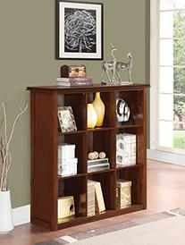 Simpli Home Artisan Medium 9 Cube Storage Bookcase, Medium