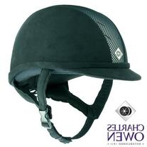 Charles Owen Ayr8 Riding Helmet All Black Size 6 7/8