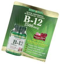 Nature's Bounty B-12 2500 mcg, 250 Microlozenges