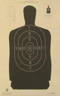 "B-29 Shooting Target Official NRA Police Silhouette 14""x22"