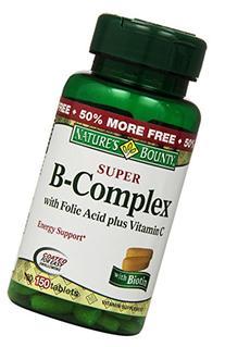 Nature's Bounty B-Complex with Folic Acid Plus Vitamin C,