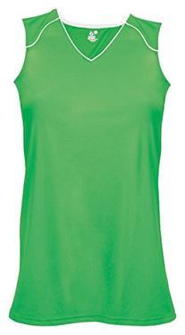 Badger B-Core Ladies Jersey Lime/ White XL