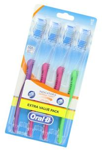 Oral-B Indicator Contour Clean Soft Toothbrush, 4 Count