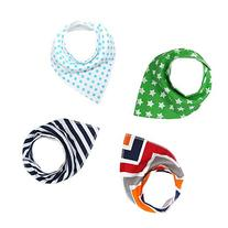 Baby Bandana Drool Bibs For Boys/Girls, Pure/Absorbent/