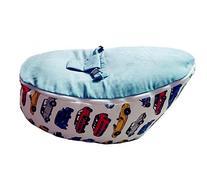 LCY Baby Bean Bag Chair Cars Print Blue-UNFILLED