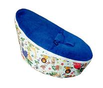 LCY Baby Bean Bag Chair Forest Animals Print Dark Blue-