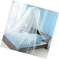 HOODDEAL Baby Child Mosquito Net For Bed Canopy Dome Whit,