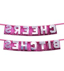 """Bachelorette Party Favors """"Cheers Bitches"""" Party Banner"""