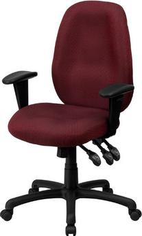 Flash Furniture High Back Burgundy Fabric Multi-Functional