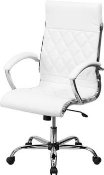 High Back Designer White Leather Executive Swivel Office