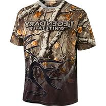 Legendary Whitetails Back Trail Big Game Camo SS Tee Large