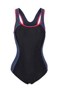 ReliBeauty Women's Backless Splice One Piece Swimsuit Medium