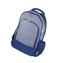 bkb Backpack, Navy Pinstripe