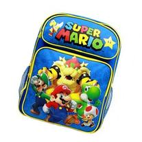 Backpack - Nintendo - Super Mario Group Blue 16 School Bag