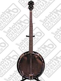 Dean Backwoods BW2E 5-String Electric Banjo with Case, Tuner