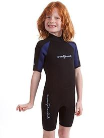 Neosport backzip kids shorty wetsuit Youth 6 Black/navy