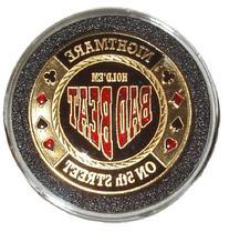 Trademark Bad Beat Card Guard Poker Button