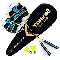 Senston Badminton Set,Two Graphite Shaft Badminton Racquet,