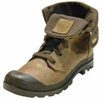 Palladium Women's Baggy Leather Boot 92356 Walnut 10