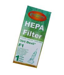 Dirt Devil F1 Bagless Upright Vision Pleated HEPA filter,