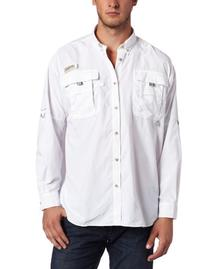 Columbia Men's Bahama II Long Sleeve Shirt, White, Medium