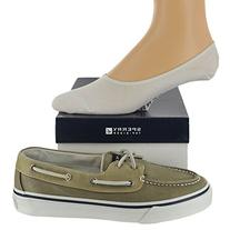 Sperry Men's Bahama Shoe with FREE No Show Socks Bundle