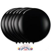 36 Inch Latex Balloon Black  Pkg/3