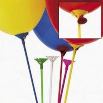 MULTICOLOR BALLOON STICKS WITH CUP  - BULK by Fun Express