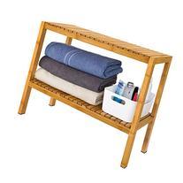 SoBuy 100% Bamboo Bathroom Shelf, Shower Shelf, Shoe Rack,