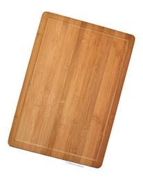 "20"" x 14"" Large Natural Bamboo Butcher Block Cutting Board"