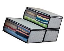 1Storage Bamboo Charcoal Fiber Clothing Organizer Bags, 3