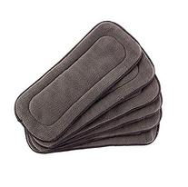 Bamboo Diaper Inserts 5 Layer Charcoal For Cloth Diapers,
