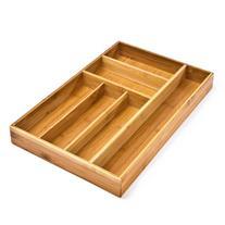 Seville Classics Bamboo Utensil Drawer Organizer Tray