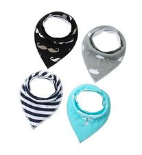 Cuddly Baby Bandana Drool Bibs with Snaps - Pacifier Clip -