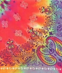 Doggie Skins Bandana - Tie Dye Paisley Print