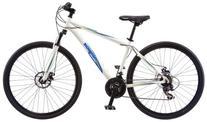 """Mongoose Men's Banish 2.0 Hybrid Bike, White, 29"""" Wheel & 18"""