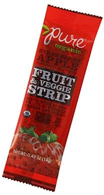 Pure Bar Fruit & Veggie Strip, Strawberry Apple, 24 Count